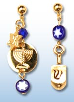 Chanukah jr. earrings 1