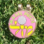 Jewish Golf Ball Markers-Pink 1