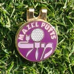 Jewish Golf Ball Markers-Purple 1