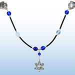 Tallit Clip - Sapphire-Cobalt with Black 1